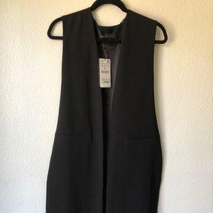 Zara sleeveless black vest